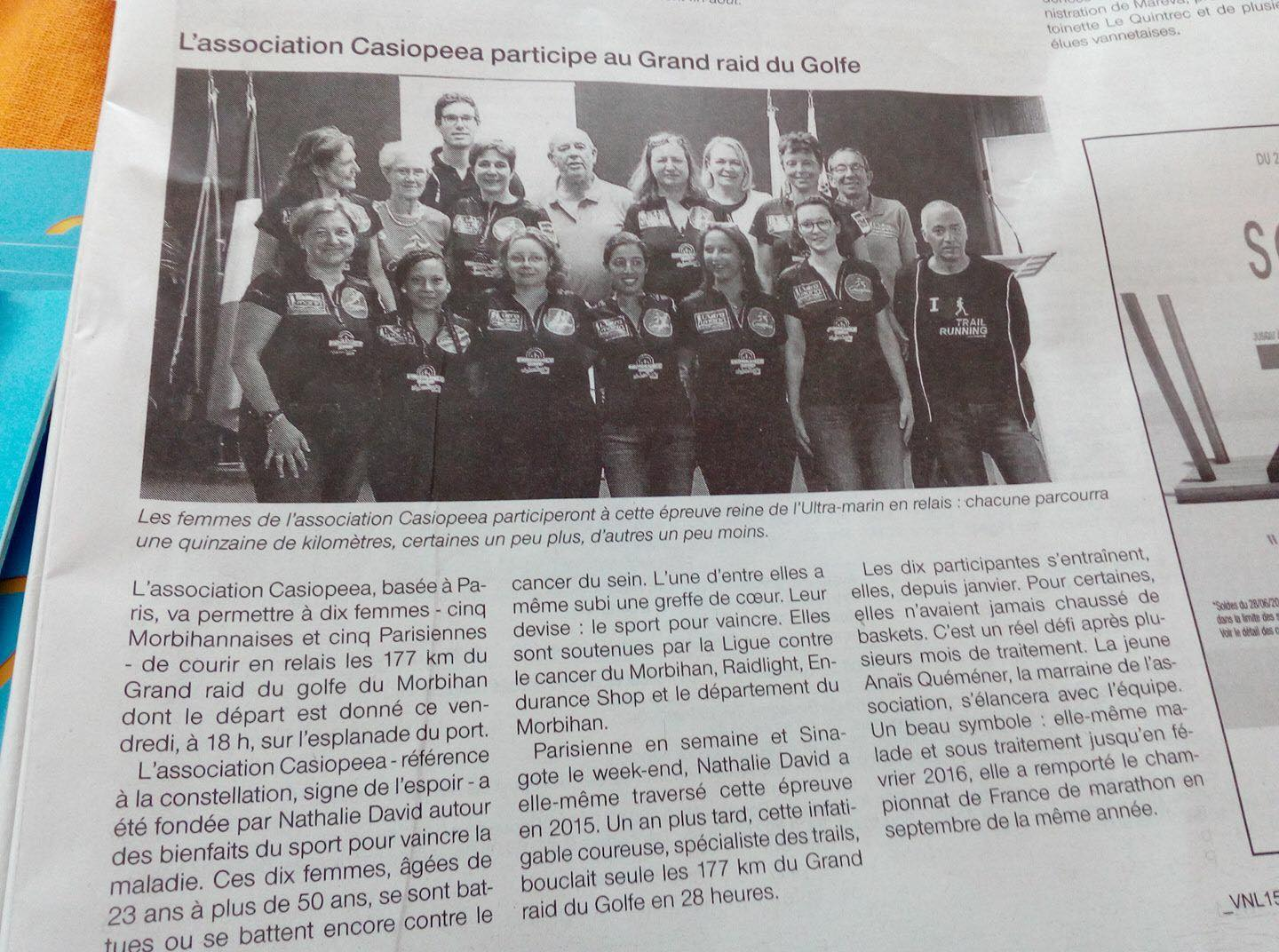 Article OUest France ULtra Marin